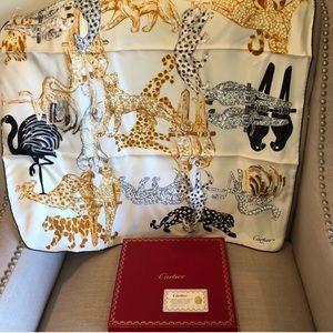 Authentic Cartier Vintage silk scarf